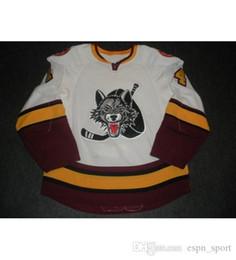 Wholesale custom wolf - New 14 Matt Anderson Mens Womens Kids AHL Chicago Wolves 7 Chelios 100% Embroidery Custom Any Name Any No. Ice Hockey Jerseys Goalit Cut Hot
