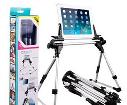 Wholesale Floor Stand Holder Tablet - Ipad stand Aluminum iPad mini Air Tablet PC Folding Lazy Stand Holder Mount For Galaxy Tab Sofa Bed Floor Outdoor iPhone Portable Rotating