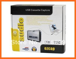 Wholesale Cassette Capture - Super Portable Tape to iPod MP3 CD USB Cassette Capture Converter Audio Music Player E0Xc BS1V Adapter With Retail Box