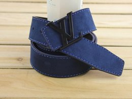 Wholesale Leather Jeans For Men - top cow genuine leather men belts 2017 newest arrival three color hot design jeans belt for male original brand