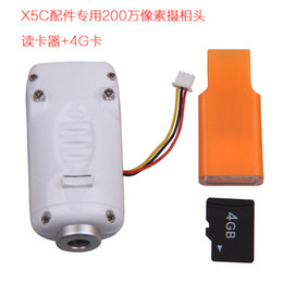 Wholesale Camera Card Readers - Free shipping Syma X5C X5 X5C-1 2.0MP HD Camera & 4GB Memory SD Card & Card Reader Parts for Syma 2.4G 4CH RC UFO Quadcopter