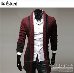 Wholesale Jacket Cardigan Masculino - Brand New autumn slim fit Masculino Blazers Cardigan jacket! Korean fashion long-sleeved Long mixed colors Mens Blazers