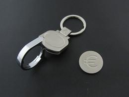 Wholesale Key Holder Labels - Supermarket Shopping Cart Coin Keychain, Trolley Token Coin Key Chain Ring Logo tag label holder, Metal enamel keychain keyring