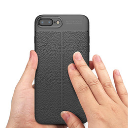 Wholesale New Focus Auto - New Hot TPU Lichee Pattern Auto Focus Silicone Rubber Skin Protective Case Litchi Back Cover for IphoneX 8 7 6s plus Samsung Galaxy Note8 S8