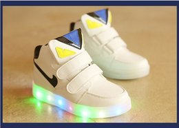 Wholesale Boot Shoes Boy Leather - 2016 New Kids Led Lighted Shoes Boys Girls Luminous Athletic Shoes Children Casual Sneakers Baby Boy Girl Boots Child Flat Shoes 4 Colors