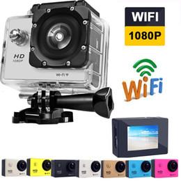 caméra d'action automobile hd Promotion Full HD 1080 P SJ4000 Wifi Caméra Sports Action Caméra HD DV DVR Étanche Avec le paquet de détail