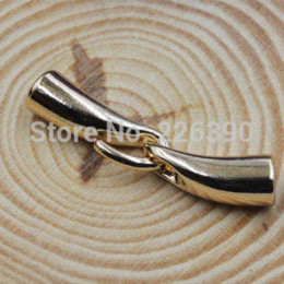Wholesale End Caps For Leather Bracelets - 20 Sets lot Inner Hole 6mm Gold CCB (Plastic) Round Leather Cord End Caps For Jewelry Necklace Bracelet DIY Findings Y914