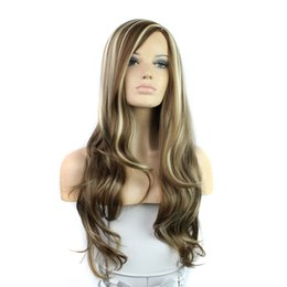 Wholesale Red Lolita Wigs - New Style New Arrival Long wavy Curly Wine red Hair Wigs Heat Resistant Synthetic Hair Wig with Side Bangs Cosplay Lolita Wig