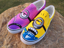 Wholesale Small Discount Wholesalers - Wholesale- 2016 new men women spring autumn hand-painted canvas shoes personality small fresh unisex casual shoes discount hot sales!