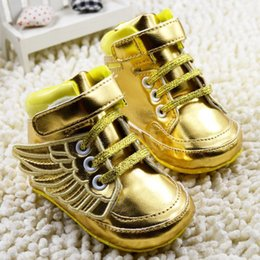 Wholesale Newborn Girl Baby Shoes - Wholesale gold princess shoes!Sequins bowknot toddler shoes!2015 baby canvas shoes,newborn sports shoes,girls Casual shoes.