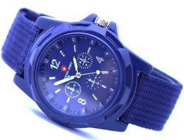 relógios de lona pulseira militar Desconto Exército suíço militar relógio de luxo piloto de lona cinta esportes homens mulheres adolescentes relógio militar suíço de quartzo relógios de pulso partido presente festivo