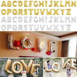 discount discount discount wholesale 40 inch big gold silver alphabet letters balloons