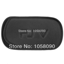 Wholesale Cases For Ps Vita - Black Soft Protective Bag Shock-absorbing Sponge Bag for PS Vita   PSP 3000 PSV Case Portable Bag Stoage Bag, Free Shipping