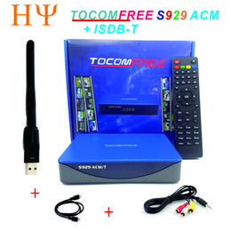 Wholesale Satellite Receiver Sks Iks - TOCOMFREE S929 ACM T H.265 DVB-S2 satellite receiver support ISDBT ACM IKS SKS Newcamd CCCam for south America