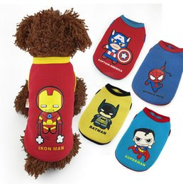 Wholesale Dog Clothes For Male - The Avengers Apparel Clothing for Dogs Superhero Clothing for small dogs Superhero dog vest The Avengers costume for Puppy dogs D309 10
