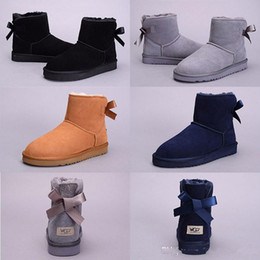 Wholesale Tall Boots For Women - WGG Top Quality Women Australia Classic tall Boots lady girl boots Boot black chestnut ankle boots for women leather shoes Eur 36-41