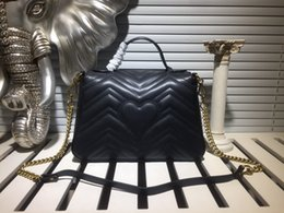 Wholesale Black Doctors Bag - 2017 New Marmont Women fashion Bags Luxury brand lady designer bags Size 27x19x10 cm 4 style model 210549603
