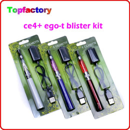 Wholesale Cheap Electronic Cigarettes Starter Kit - Cheap ego starter kit CE4+ CE4 plus atomizer 650mah 900mah 1100mah battery for electronic cigarette in Blister pack Mix order available