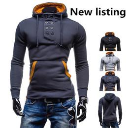 Wholesale Cardigan Jacket Assassins Creed - High Quality Men's Fashion Casual Hoodies Slim Cardigan Assassin Creed Hoodies Shigh collar hoodie weatshirt Outerwear Jacket SizeM L XL XXL