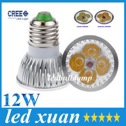 Wholesale Dimmable Led Light Bulb Cheap - High power GU10 MR16 E27 E14 G5.3 12W CREE 4x3W Dimmable Led Light Lamp Spotlight led bulb 10pcs, cheap!! AC 85-265V