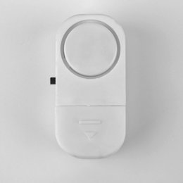 2019 alarma del sensor magnético 1 unids Autoadhesivo Sensor Inalámbrico Inalámbrico Puerta Antirrobo Ventana Entrada Alarma 90 dB tinyaa 2015 nuevo rebajas alarma del sensor magnético