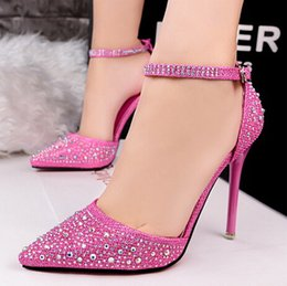 Wholesale Drop Shipping Wedding Dresses - Drop shipping New style Women shoes Two-Piece Pointed Toe Pumps shoes Fashion High Heel Shoes Women wedding shoes