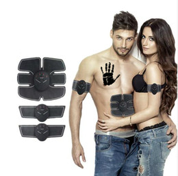 Wholesale Electronic Muscles Stimulator - 2018 New Model Electric Muscle Stimulator Wireless Electronic Muscle Massager ABS Fit Stimulator Body Slimming Trainer