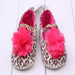 Wholesale Toddler Leopard Shoes For Girls - Cute Leopard Flower Infant Girls Princess Shoes Soft Baby Sneakers For Toddler Shoes 3 Size Prewalker KS81205-121