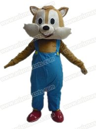 Wholesale squirrel mascot adult costume - AM9216 Squirrel mascot costume Fur mascot suit animal mascot outfit adult fancy dress