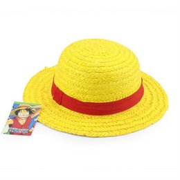 Wholesale Luffy One Piece Cap - Anime One Piece hat Luffy Straw hat party hat Hallowmas Free shipping