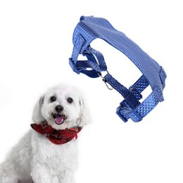 Wholesale Leather Dog Leashes Harnesses - Excellent Pet Dog Harness Set Great Dog Running Leash Large & Medium Sized Ventilate Dog Traction Rope + Harness + Collar