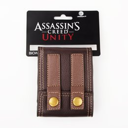 Wholesale snap clutches - Wholesale- Assassins Creed Black Flag Wallet with Snap Fastening with Tag Brand New