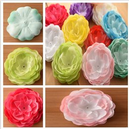 Wholesale Artificial Little Flower - 55pcs Baby Flower Dahlia Flower Artificial flower for little girl hair accessories pretty flower for hairbow flower Accessories hairbows