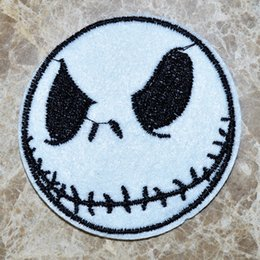 Wholesale Wholesale Christmas Iron Appliques - HOT SALE! JACK SKELLINGTON Nightmare Before Christmas Iron On Patches,Made of Cloth Guaranteed 100% Quality Appliques+ Free Shipping!!!