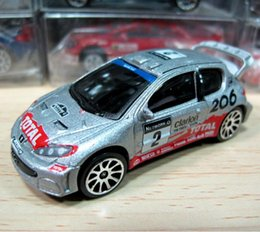 Wholesale diecast toy 64 - 1:64 scale alloy car model high simulation PEUGEOT 206 Rally car diecast metal toy car children's toy vehicle collection model
