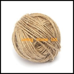 Wholesale Twine Rope Wholesale - 55 Meters Roll 3 Ply 2mm Width Natural Burlap String Hessian Jute Twine Rope Cord For Wedding Party Accessory DIY Craft