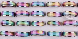 Occhio di gatto placcato argento online-Gli anelli unisex dell'acciaio inossidabile di modo 20Pcs hanno placcato i monili di modo degli anelli della pietra dell'occhio del gatto della resina di colore di AB Trasporto libero