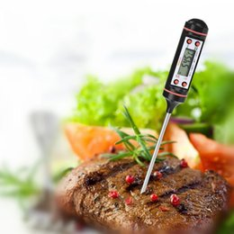 Wholesale Outdoor Cook - Cooking Digital Stainless Thermometer with Instant Read for All Food, Meat, Turkey, Grill, BBQ, Smoker, Kitchen and Candy. LCD Screen