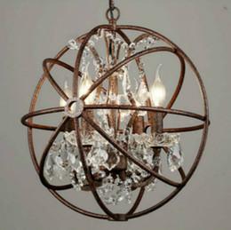 rustikale anhänger Rabatt RH Industrie Beleuchtung Restaurierung Hardware Vintage Kristall-Kronleuchter Pendelleuchte FOUCAULT IRON ORB LEUCHTE RUSTIKALE EISEN Gyro Loft