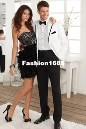 Wholesale Cheap Mens White Wedding Suits - 2015 New Arrival White Groom Tuxedos,Stunning Cheap Custom Made Wedding Party Groomsman Suit Mens Suit (Jacket+Pants+Tie)