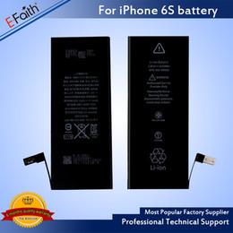 Canada Batterie de haute qualité interne intégrée batterie de remplacement de téléphone Li-ion pour iphone 6s / 6 Livraison UPS gratuite Offre