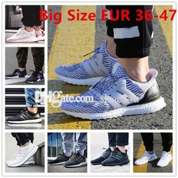 Wholesale Canvas Lace Up Shoes Women - Big Size Ultra Boost 2.0 3.0 4.0 Ultra Boost men running shoes sneakers women Sport Tri-Color NMD R2 CNY Snowflake Core Triple Black White