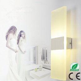 Wholesale Sitting Lamp - LED Wall Light Living Sitting Room Foyer Bedroom Bathroom Modern LED Wall Sconce Round Square LED Acrylic Wall Lamp Led Mirror Light