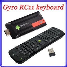 Wholesale Rk3188 Quad Core - 2.4Gzh Measy RC11 Air Fly Gyro Mouse Keyboard MK809IV RK3188 Android TV Box Quad Core Mini PC A9 1.8Ghz Bluetooth 2G 8G MK809 IV