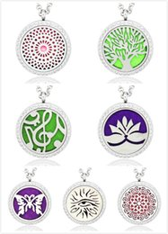"Wholesale Dog Magnets - 7 styles Aromatherapy Essential Oil Diffuser Necklace magnet close Locket Pendant 316L Stainless Steel Jewelry with 20"" Chain and 5pads X007"