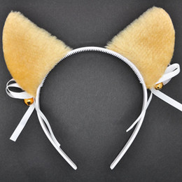Wholesale Play Ponies - Stage plays Orecchiette three colors headband hair accessories hairpin cosplay bell bow child trinkets