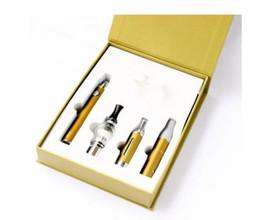 Wholesale E Cigar Starter Kit - Magic 3 in 1 E Cigarettes with Wax dry herb Ago MT3 Glass Globle atomizer EVOD battery vaporizer pen vapes Starter Kit E-Cigar TZ320