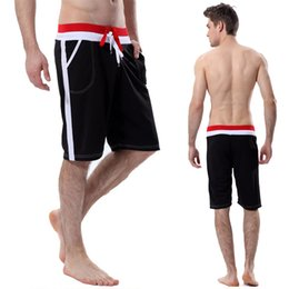 Wholesale Men S Boardshorts - Fashion Men's Casual Shorts Black White Summer Loose Elastic waist Shorts Housewear light boardshorts Knee-Length Men Shorts
