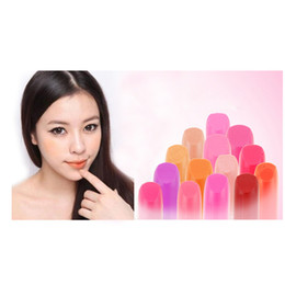 lipstick makeup tools lip balm Promo Codes - Wholesale-Colorful Beauty Essentials Lipsticks 14 colors sexy Baby Makeup goods tool lippie lip rouge balm glosses protector chap stick