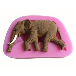 Wholesale Elephant Soap - New Arrival Cute Elephant Shape 3D Silicone Cake Fondant Mold, Cake Decoration Tools, Soap, Candle Moulds pate fimo